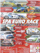 "SPA FRANCOURCHAMPS original poster RENAULT / BELCAR /TVR 2002 23x16"" (600x400mm)"